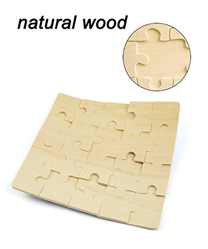 Vileafy 12-In-1 Jigsaw Puzzles for Kids, Wooden Puzzles with Individual Silk Gift Bag for Children's Party Favors … by Vileafy (Image #4)