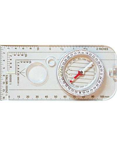 Magnifier Lens Romer Scales Trekking Mountain Warehouse Compass Map Mills Luminous Needles Hiking Essential for Camping Degrees Measure Mills Navigation Compass