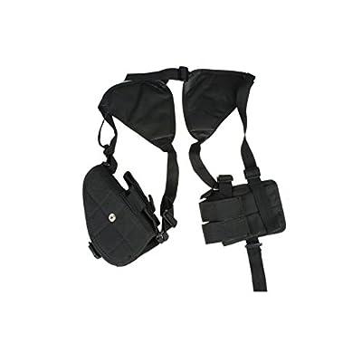 TEKCAM Tactical Concealed Carry Shoulder Holster Adjustable Horizontal Armpit Shoulder Hidden Pistol Holster with Padded Shoudler for Smith Glock Wesson