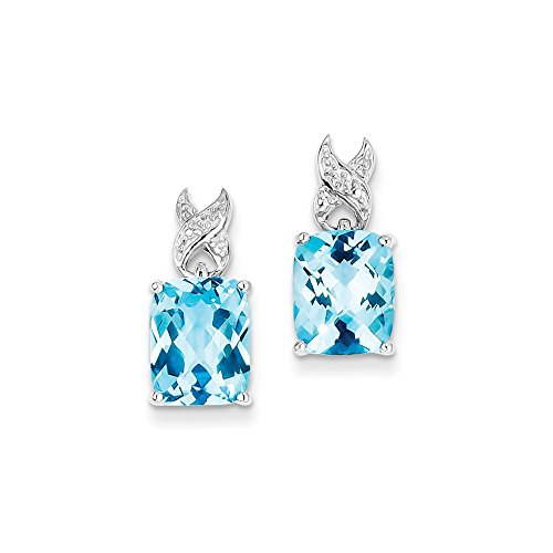 Sterling Silver Blue Topaz Earrings by CoutureJewelers
