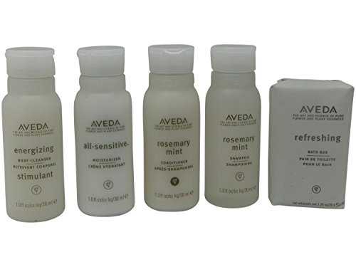 Aveda Travel Set- 2 Shampoo 2 Conditioner 2 Lotion 2 Hand & Body Wash & 2 (Aveda Mint Conditioner)