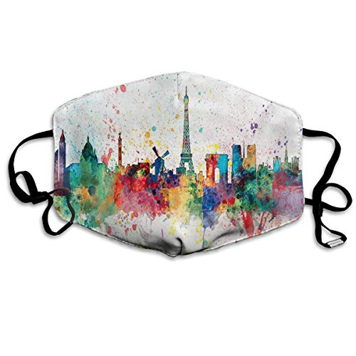 Anti Dust Mask Paris France Skyline Art Surgical Mask Winter Healthy Reusable For Women -