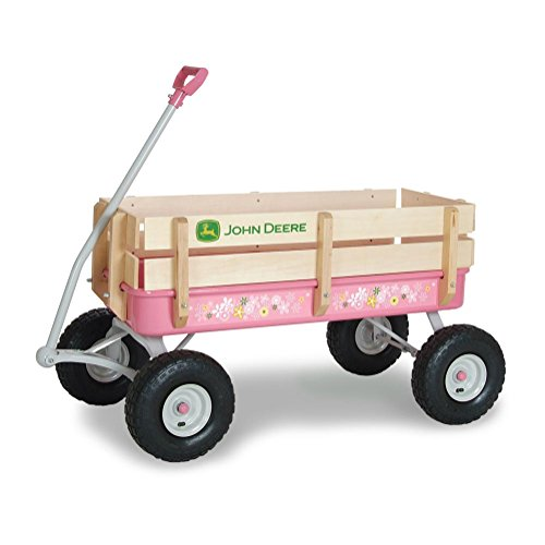 John Deere Steel Stake Wagon Pink (Kids John Deere Wagon)