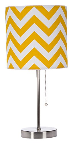 Sweet Potato Swizzle Yellow Mod lamp & Yellow Chevron Shade