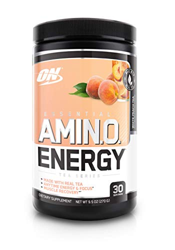 OPTIMUM NUTRITION Essential Amino Energy, White Peach Tea, Preworkout and Essential Amino Acids with Green Tea and Green Coffee Extract, 30 Servings