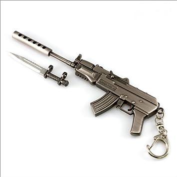 Counter Strike Armas de fuego militares Rifle Pistola miniatura Ak47-S Modelo llavero llavero Regalo Call Of Duty Counter Strike Colgante: Amazon.es: ...