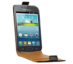 SWISS CHARGER Flip para Samsung Trend - negro - Funda con solapa