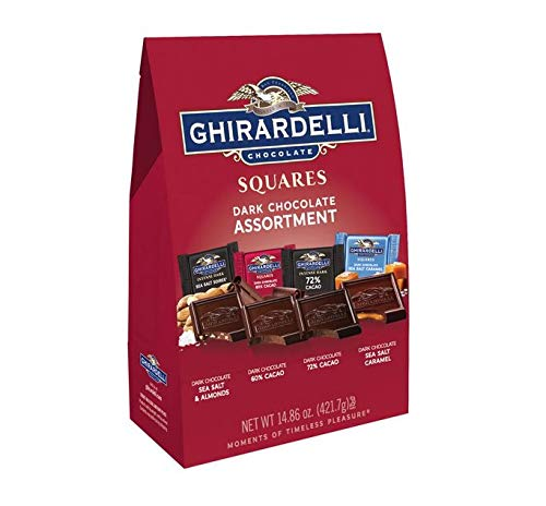 (Ghirardelli Dark Assorted Squares XL Bag, 14.86 Ounce 2 Bags)