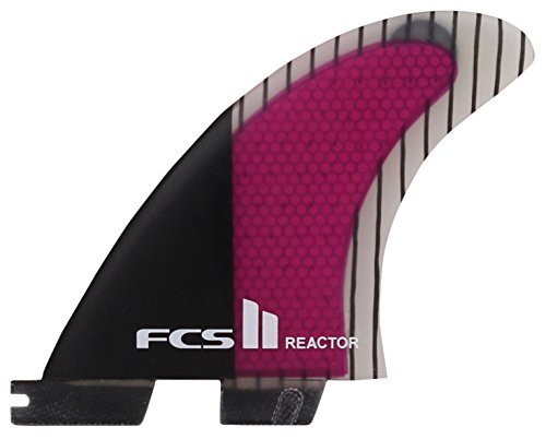 FCS II Reactor Performance Core Carbon Surfboard Tri Fin Set - Large by FCS