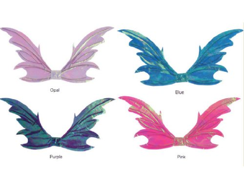Tattered Fairy Adult Wings, Blue/Purple, One (Iridescent Fairy Wings)