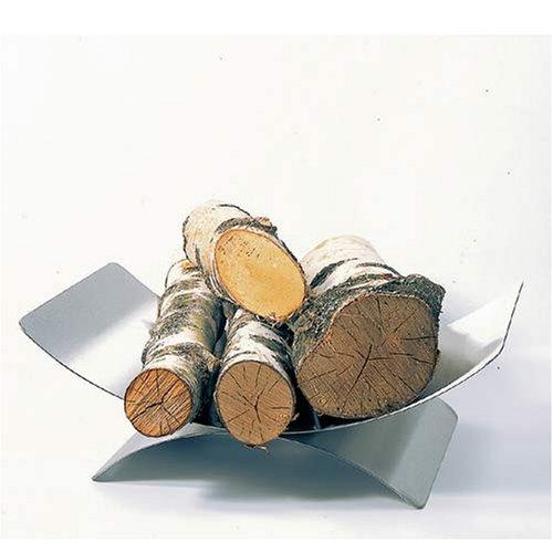 Lienbacher Holzkorb Edelstahl matt gebürstet H16xB45xT30 cm