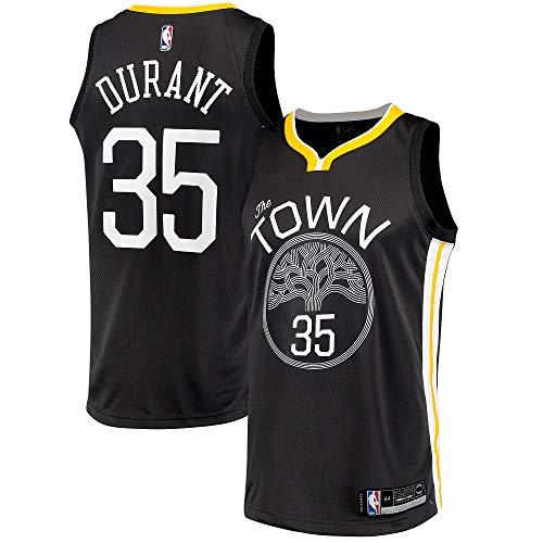 3f42aad3a Men s Golden State Warriors  35 Kevin Durant Jersey Swingman Black (L)