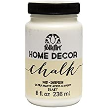 FolkArt Home Decor Chalk Furniture & Craft Paint in Assorted Colors (8 Ounce), 34151 Sheepskin