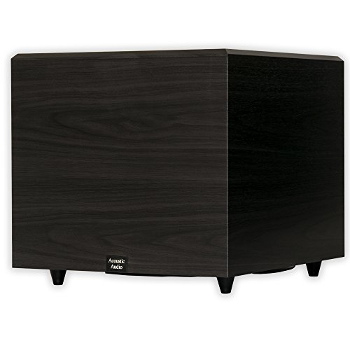 Acoustic Audio RWSUB15 Home Theater Powered 15'' Subwoofer Black Down Firing Sub by Acoustic Audio by Goldwood