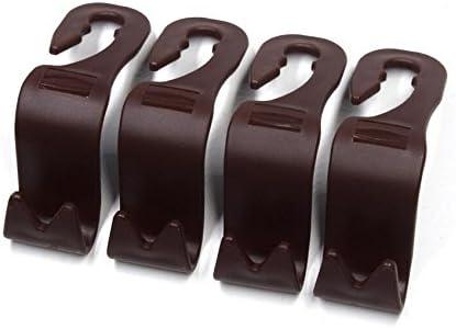 Mayco Bell 4pcs Auto Lagerung Haken Rücksitz Kopfstütze Haken Mantel Geldbörse Handtasche Halter Braun Satz Von 4 Auto