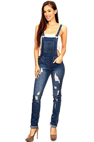21870f8ac0 New Women Denim JEANS Overall Destroy Long Skinny Pants Jumper ...