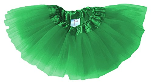 Dancina Baby Girls' Tutu Super Soft for Newborn through Toddlers 0-5 months Green (Big Poofy Dresses)