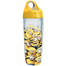 Tervis Universal Studios Minions Mass Wrap Water Bottle with Yellow Wb Lid, 24oz, Clear