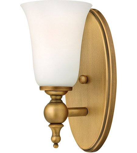 Yorktown Vanity - Bathroom Vanity 1 Light with Brushed Bronze Etched Opal Medium Base 5 inch 100 Watts