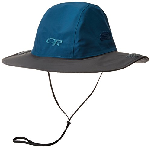 Outdoor Research Seattle Sombrero Hat, Peacock/Dark Grey, X-Large