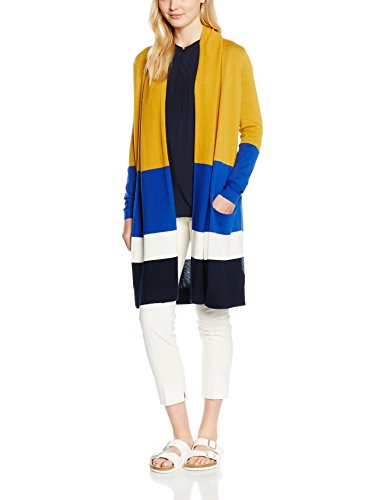 Tommy Hilfiger New Havera Long Cardi, Chaqueta para Mujer Gelb (SUNDOWN YELLOW/MULTI 901)