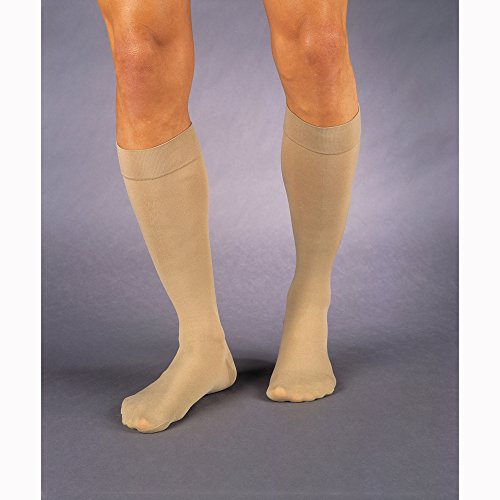 JOBST Relief 30-40 mmHg Compression Socks, Knee High, Closed Toe, Beige, X-Large Full Calf
