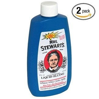 Pack of two, 8-ounce per bottle (total of 16-ounces) - Mrs. Stewart's Concentrated Liquid Bluing - Great for Laundry - 8-ounce Bottle (Pack of 2)