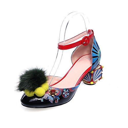 GJDE Tacón Robusto Confort Innovador Zapatos del club Sandalias Boda Vestido Fiesta y Noche a