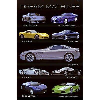 Dream Machines Cars Poster Art Print