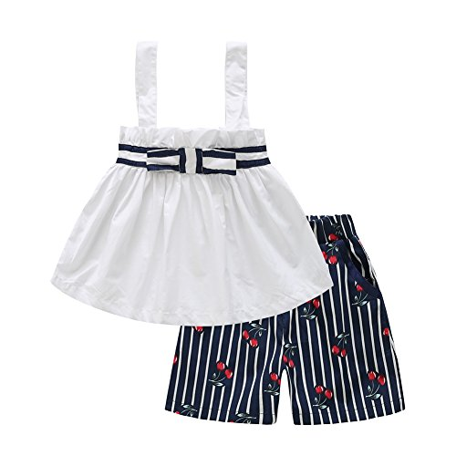 froomer-toddler-baby-girl-2-pcs-sleeveless-dress-cherry-print-cute-short-pants
