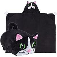 Comfy Critters Stuffed Animal Blanket – Cat – Kids...
