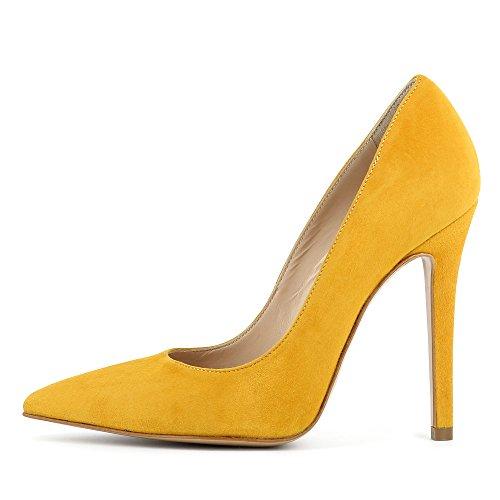 Evita Shoes Lisa - Zapatos de vestir de Piel para mujer Ocre