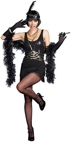 Dreamgirl Women's Aint Misbehavin Costume, Black, Medium