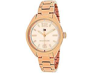 Tommy Hilfiger Women's 1781521 Casual Sport Analog Display Quartz Rose Gold Watch