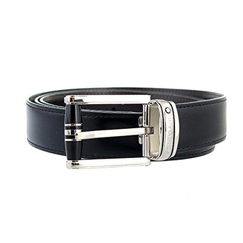 モンブラン MONTBLANC メンズ ベルト 114386 シルバー ブラック/ブラウン ファッション小物 ベルト mirai1-553212-ak [並行輸入品] [簡易パッケージ品] B077VPN2ZW