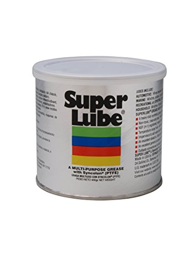 Super Lube 41160/UV Synthetic UV Grease (NLGI 2), 14.1 oz Canister, Translucent White Synthetic Lubricant