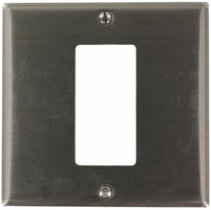 Leviton S746 N 1 Decora Wallplate Stainless