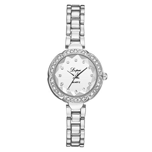 (LUCAMORE Women's Watches Bracelet Diamond Round Dial Ladies Fashion Dress Quartz Wrist Watch)