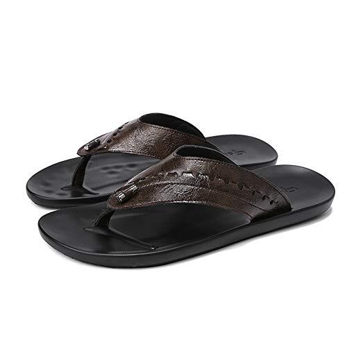 Zapatos Marrón 40 Chancletas Cuero De Aire Color Wangcui tamaño Antideslizantes Al Libre De Marrón EU Zapatos Playa Ocasionales Hombres para xTZBS
