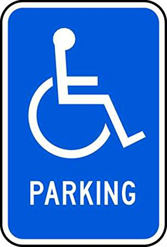 (ZING 2351 Eco Parking Sign, Handicapped Symbol Parking, 3M High Intensity Prismatic, Recycled Aluminum)