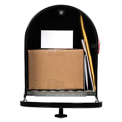 Gibraltar Mailboxes OM160B01 Outback Double Door, Large Capacity Mailbox Black by Gibraltar Mailboxes (Image #2)