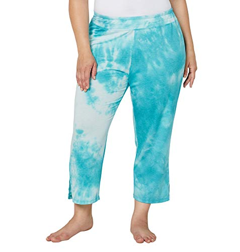 Avenue Women's French Terry Tie Dye Lounge Pants, 26/28 Blue (Terry Tie Dye)