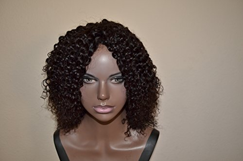 Handmade Wig - Brazilian Kinky Curly 8A Natural Color 10-10-10 by Chezlilika