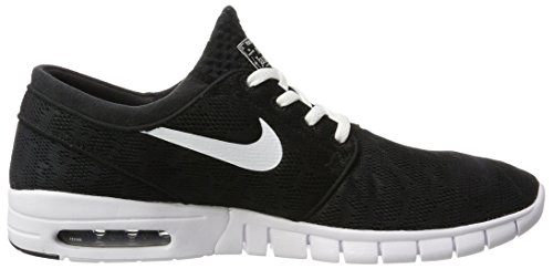 Nike Stefan Janoski Max, Scarpe da Skateboard Uomo Nero (Black/White)
