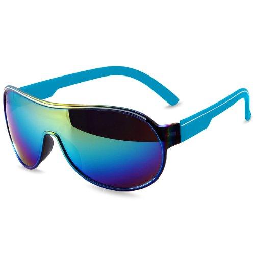 Gafas Estilo Unisex Espejo de SG007 Tintadas Azul de Piloto Caspar o Sol de FwYAnI