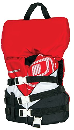 Black Kids Life Vest (O'Brien Child with Collar 3 Buckle Nylon Life Vest (Red/White/Black, 30-50-Pounds))