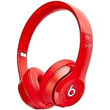 Beats Solo 2Wired–Auriculares de diadema (Blanco) (Refurbished Certificado) Rojo