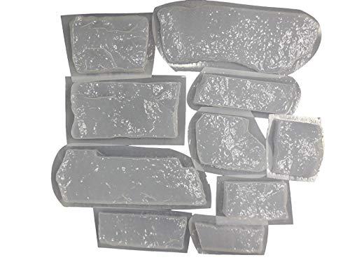 10 Ledge Stone Rock Veneer Tile Facing Concrete or Plaster Molds 6034a