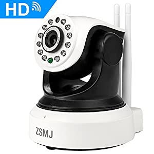 ZSMJ Wireless 1080P IP Camera, Wifi Home Security Surveillance Camera with Night Vision/Two-way Audio, 2.4Ghz Indoor Dome Camera for Pet Baby, Remote Monitor with MicroSD Slot, Android, iOS App from Dohonest