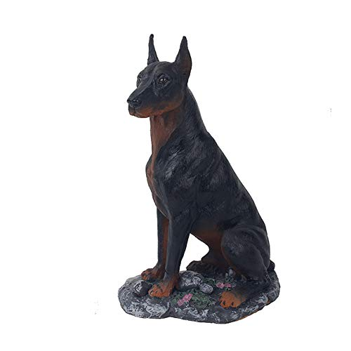 (SDBRKYH Dog Decorative Statue, Doberman Pinscher Dog Statue Sculpture Desktop Figurine Resin Crafts 15924Cm)